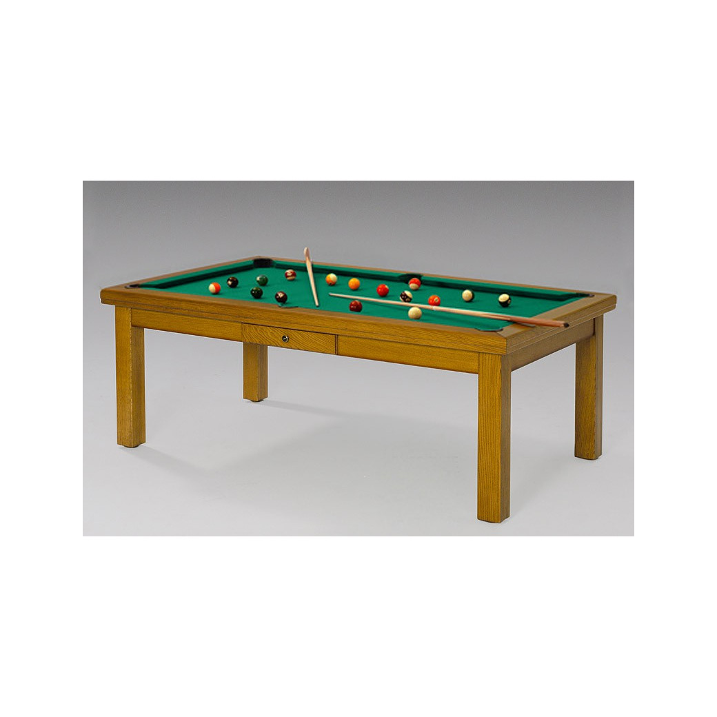 Billard transformable en table, tapis vert jaune surprenant