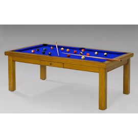 Table transformable billard, tapis bleu pool pour jeu de billard anglais