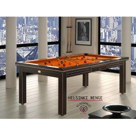 Jeux de billard, sur tapis de jeu orange