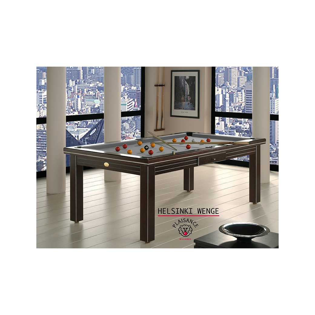 Table billard convertible : tapis gris souris
