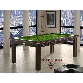 Billard pool table, bois noir et tapis de jeu vert pool