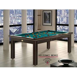 Billard france, table bois et tapis vert bleu