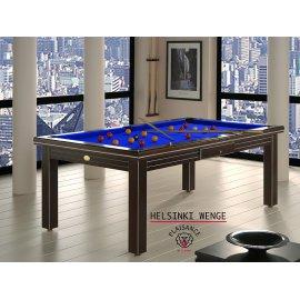8 pool, avec tapis de billard Simonis bleu pool