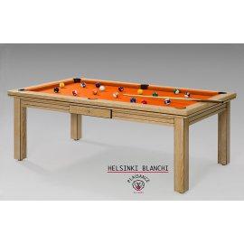 Billard table a manger, tapis orange Simonis