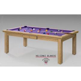 Billard a acheter, avec une table transformable et un tapis Simonis violet
