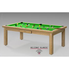 Billard modulable (convertible en table à manger) avec tapis vert pomme
