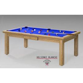 Table de billard haut de gamme, tapis de jeu bleu royal de qualité
