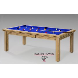 Table billard convertible : Helsinki blanchi