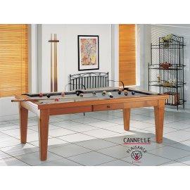 Billard convertible table a manger, tapis gris clair design et chic