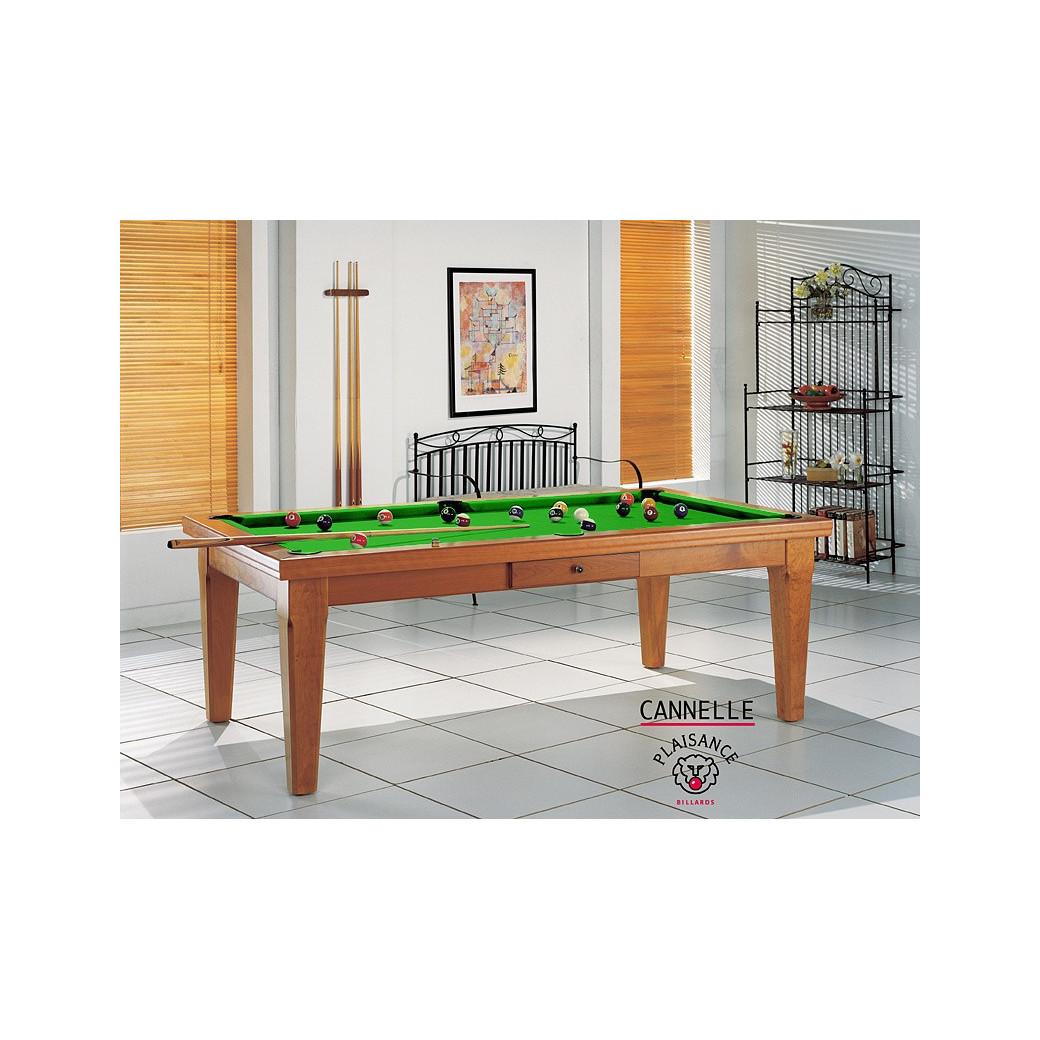 Billard table a manger, couleur vert pomme à croquer