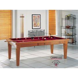 Billard sur table, en bordeaux couleur vin