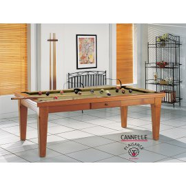 Billard americain table a manger, billard de luxe couleur or