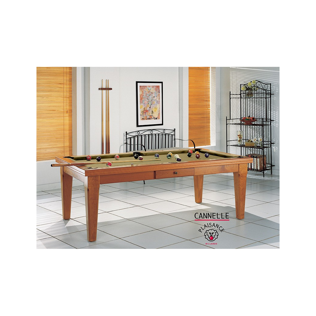 Billard americain table a manger, billard de luxe couleur or