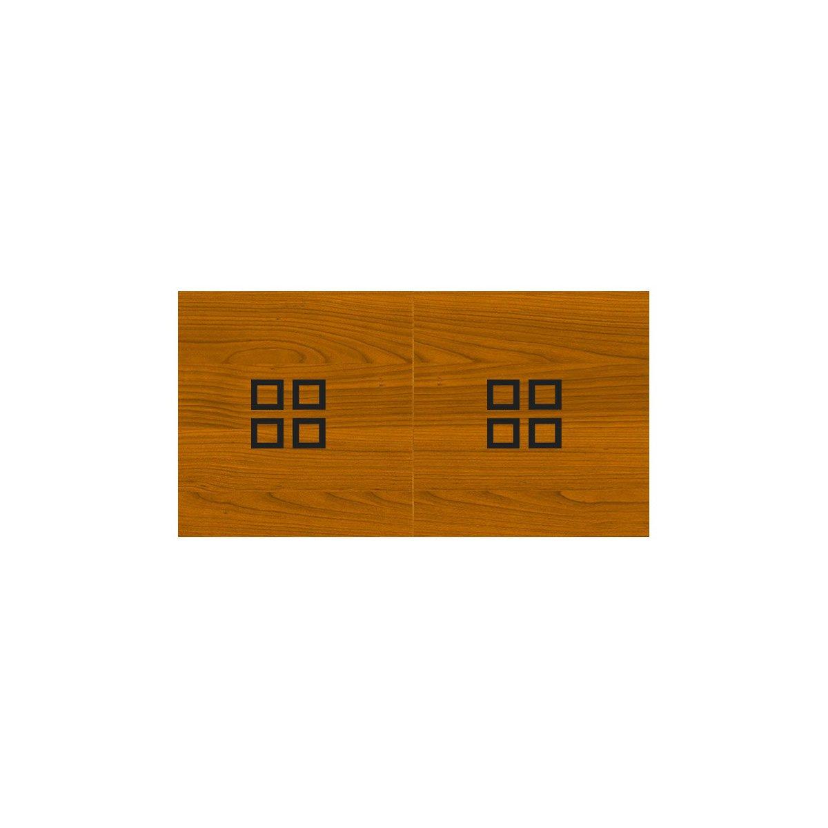 Plateau billard en bois Merisier avec carré peint en noir pour table billar -> Plateau Merisier