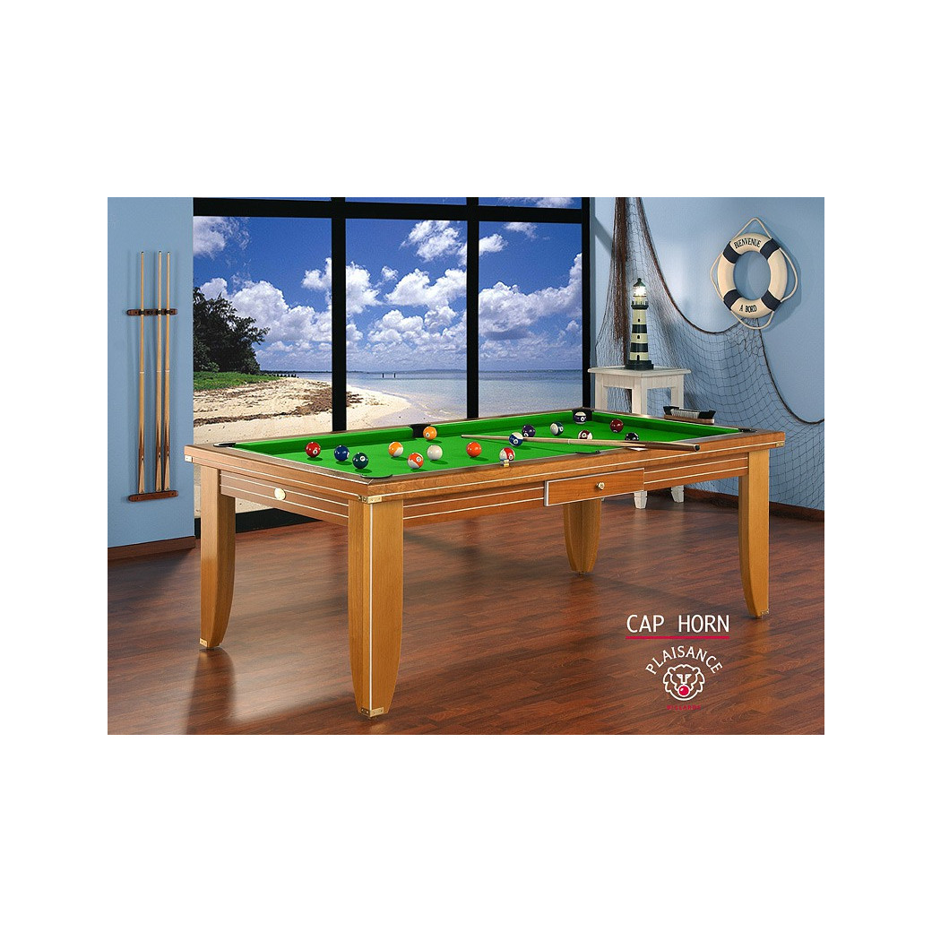Table a manger billard design: tapis vert pomme, une couleur qui stimule la vision