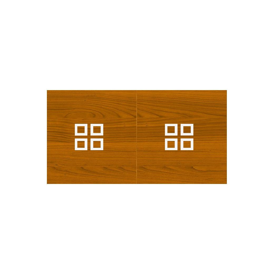Table billard transformable, plateau avec carrés blancs