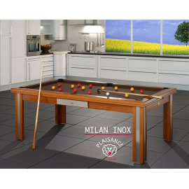 Billard table a manger, tapis de jeu chocolat design de luxe