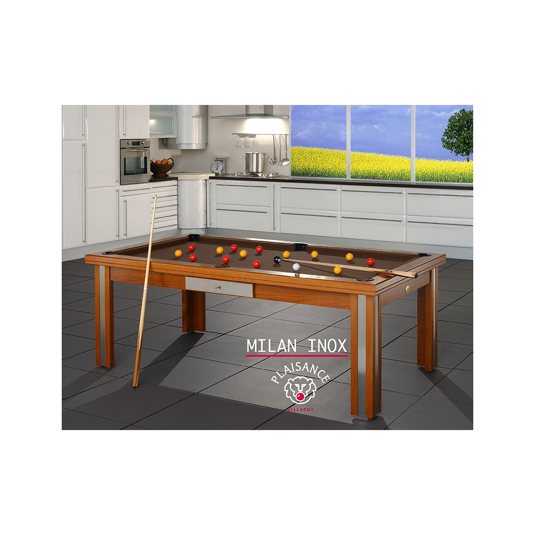 Billard table a manger, tapis de jeu chocolat design de luxe