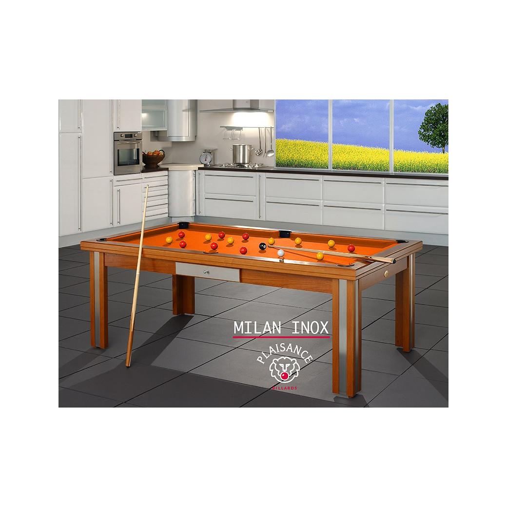 Table billard convertible, avec son tapis orange haut de gamme