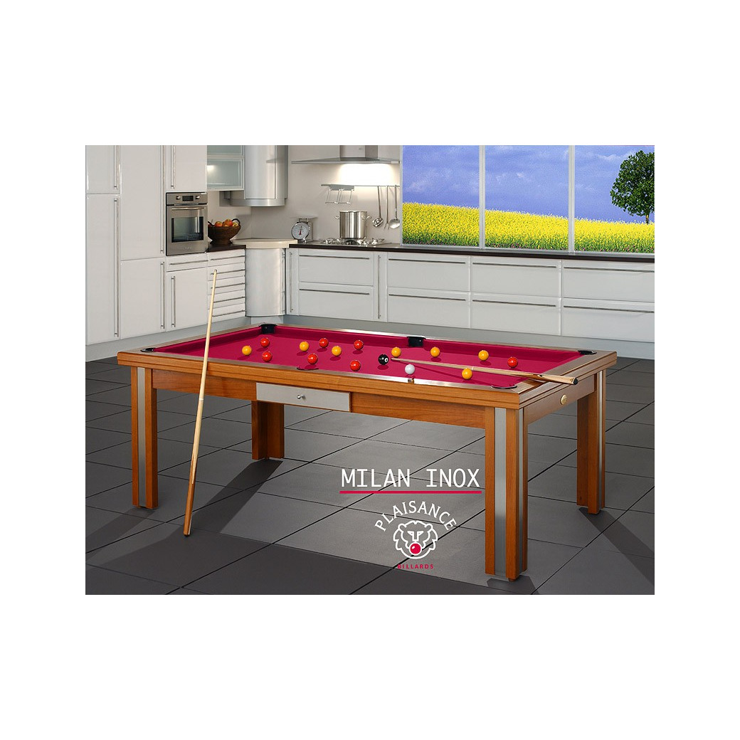 Table de billard, tapis rouge pour billard de luxe