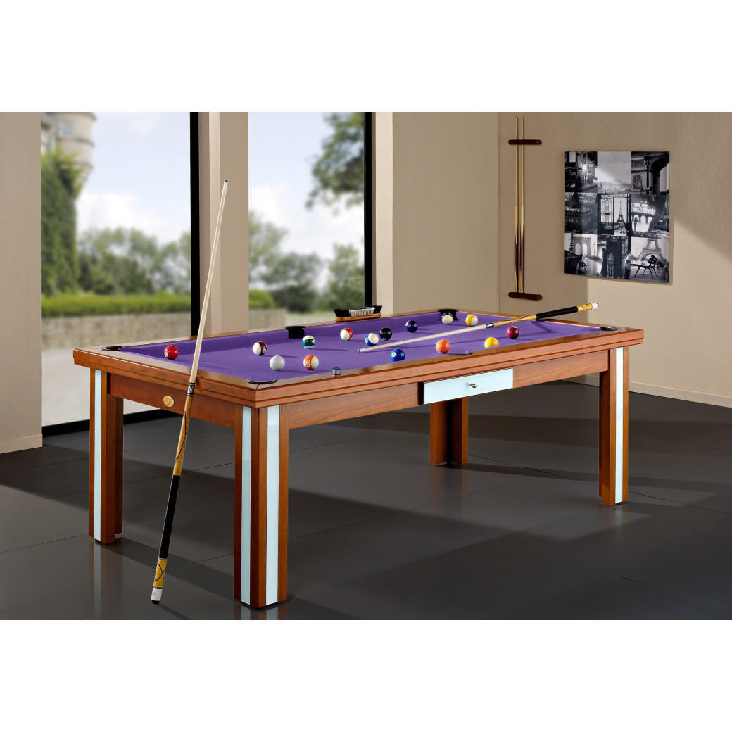 Billards, en option convertible avec tapis de luxe violet
