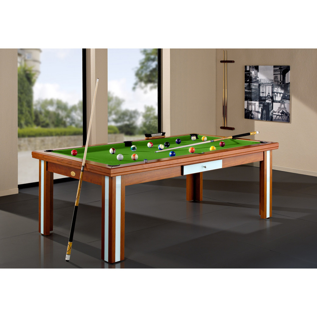 Billards france, présente son billard transformable vert pool