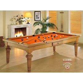 Billard table a manger, tapis orange design