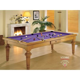 Billard table, en bois avec drap violet moderne