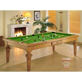 Table salle à manger billard, fabriqué en France avec un tapis vert pool