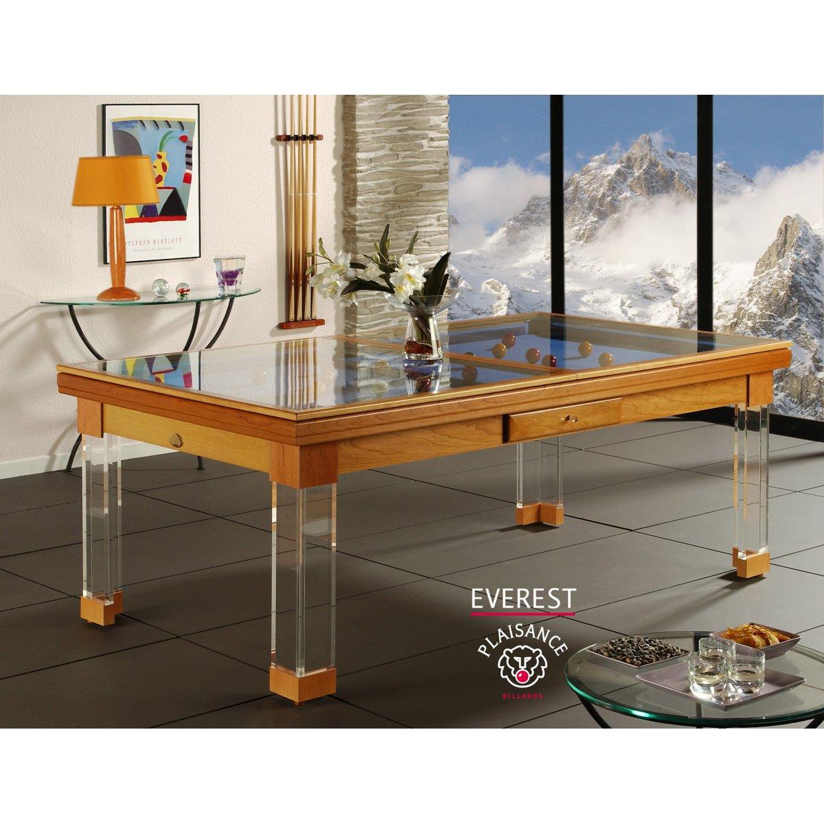 table billard convertible everest billard table a manger avec plateau table - Billard Table A Manger