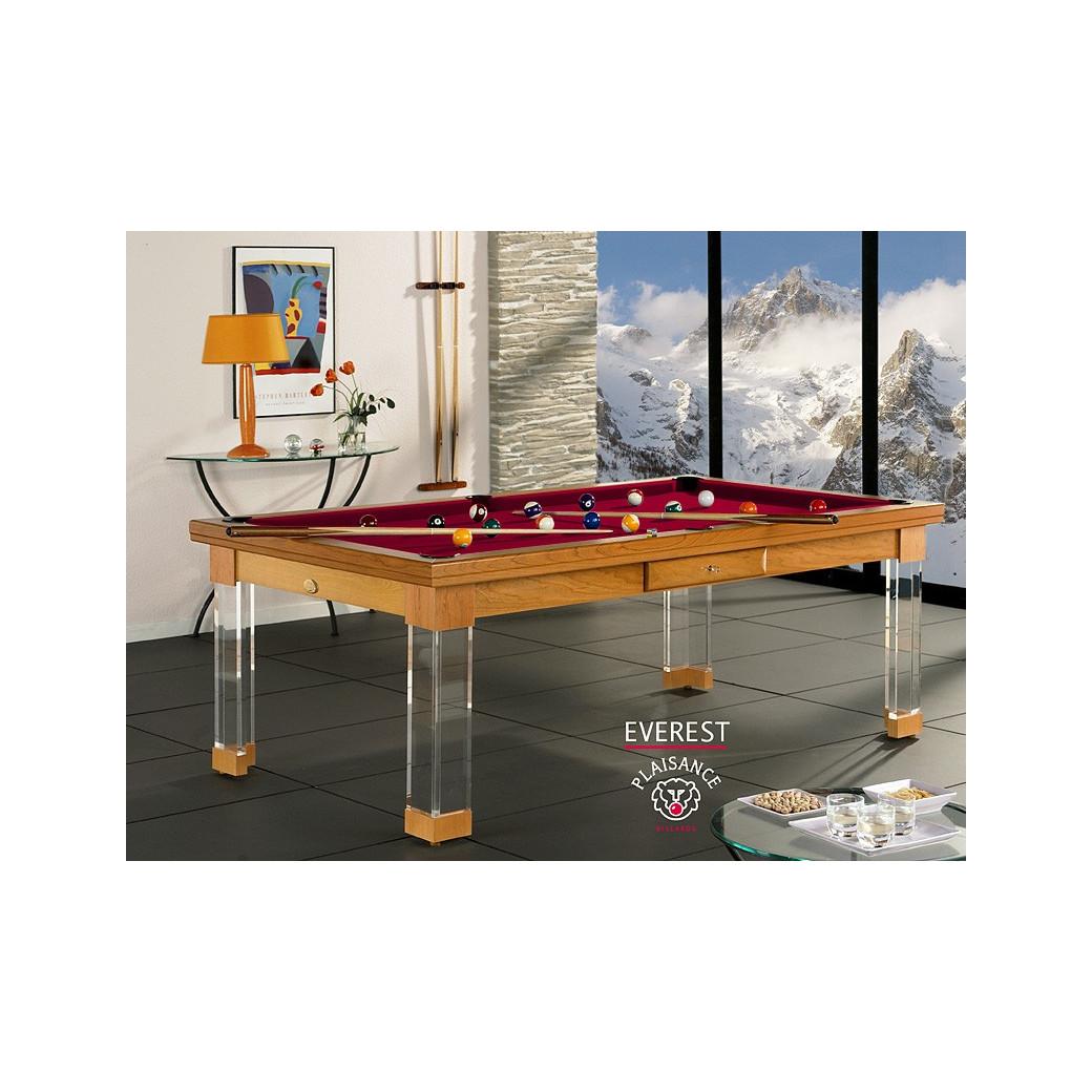 Billard bordeaux, table billard convertible et son tapis couleur vin rouge