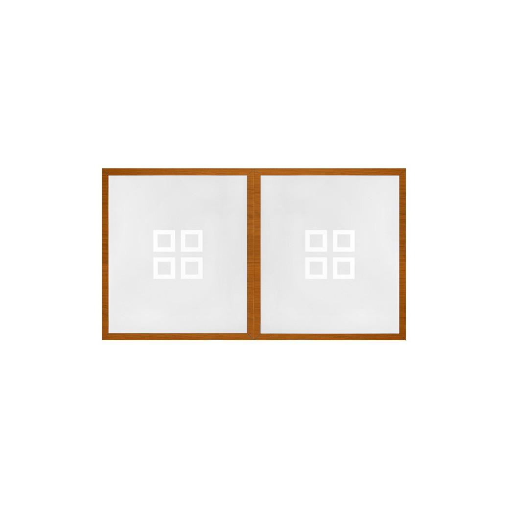 Table billard convertible, plateau verre et cadre bois