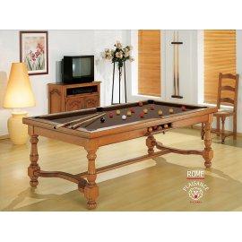Table a manger billard, choisissez le tapis chocolat une couleur douce et rassurante