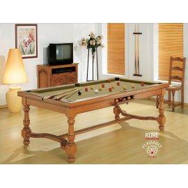 Billard achat, table transformable avec tapis gold : couleur du faste et du luxe