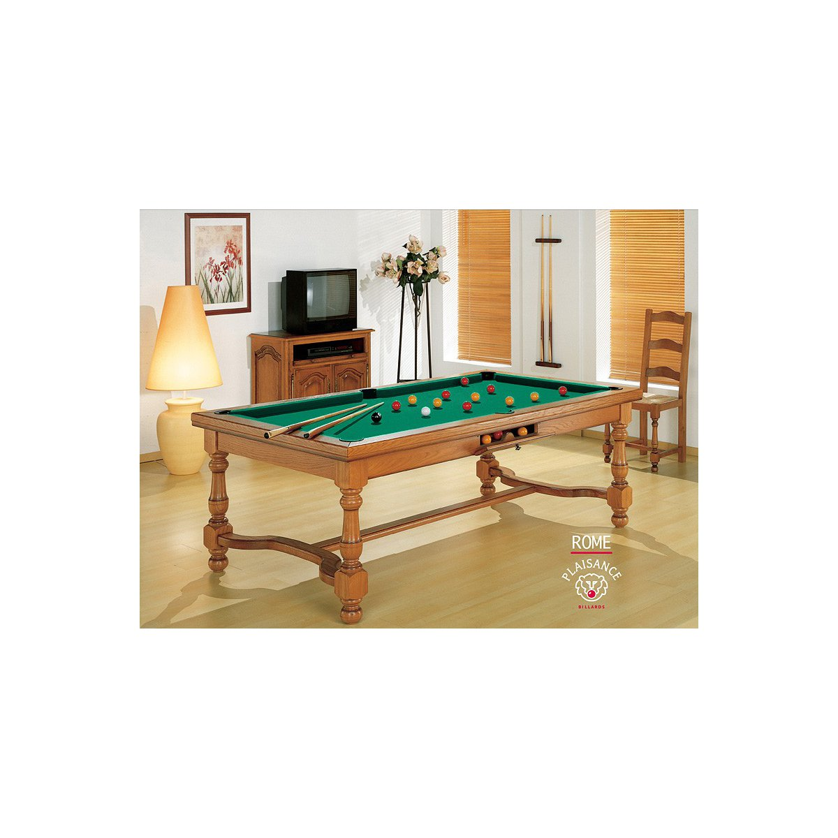 Table billard convertible rome billard haut de gamme - Billard convertible table ...