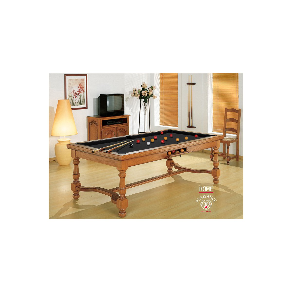 Table billard convertible rome billard haut de gamme for Table billard convertible belgique