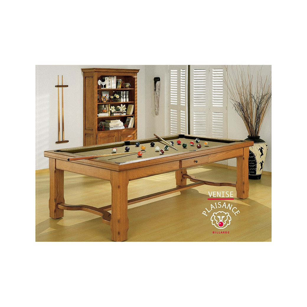 table de salle a manger transformable en billard, tapis luxieux gold couleur or