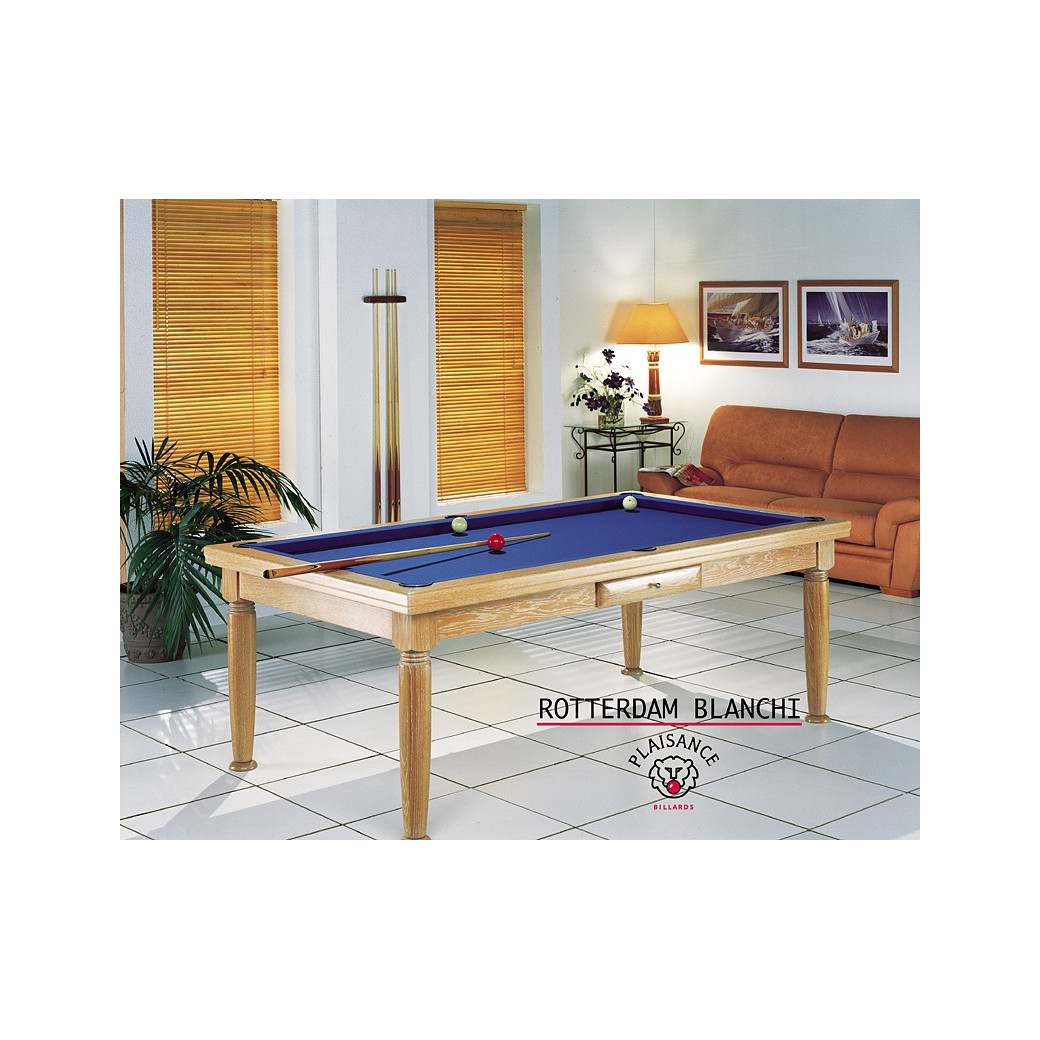 Billard table a manger, Rotterdam en finition blanchi n°19