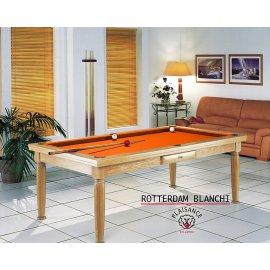 Table a manger billard, et son tapis Simonis orange moderne