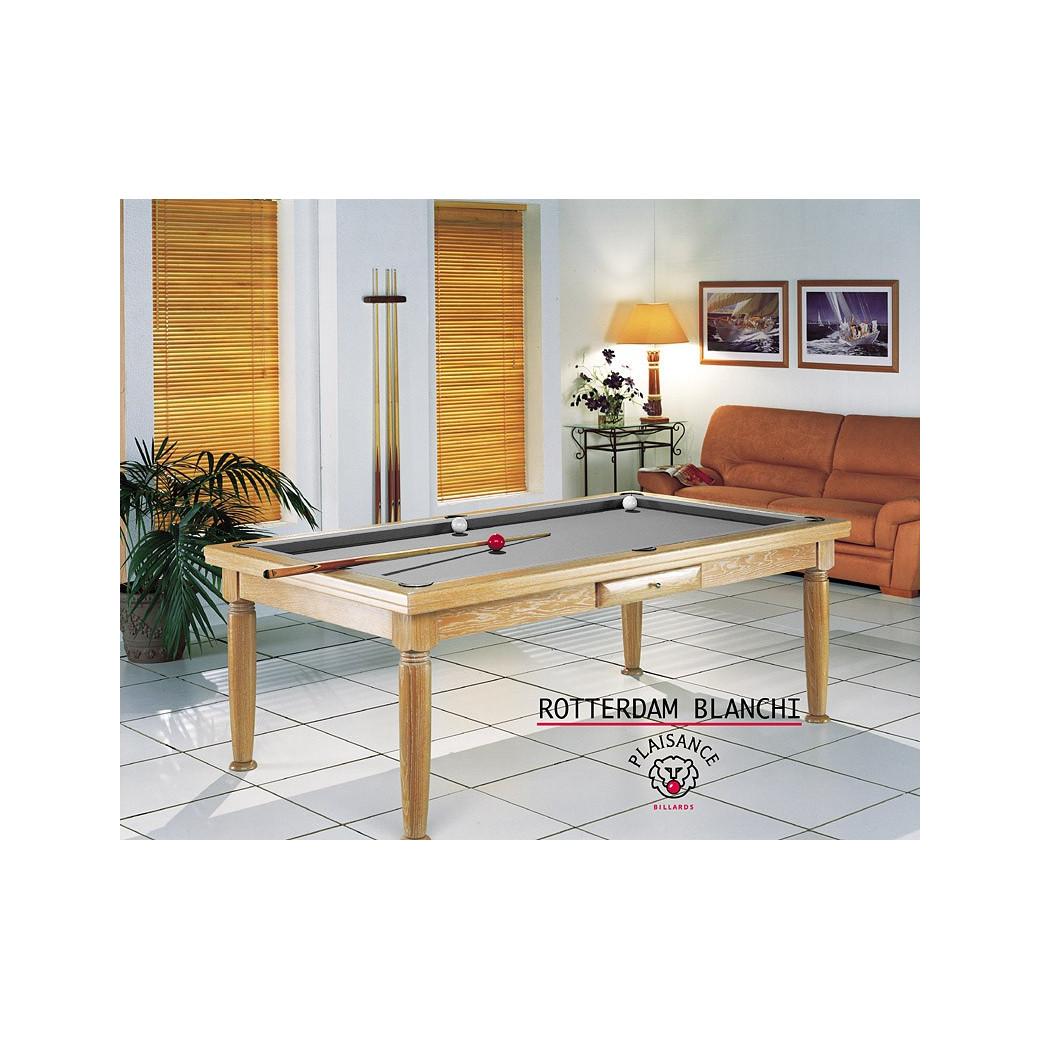 Table billard convertible table a manger : tapis billard gris élégant