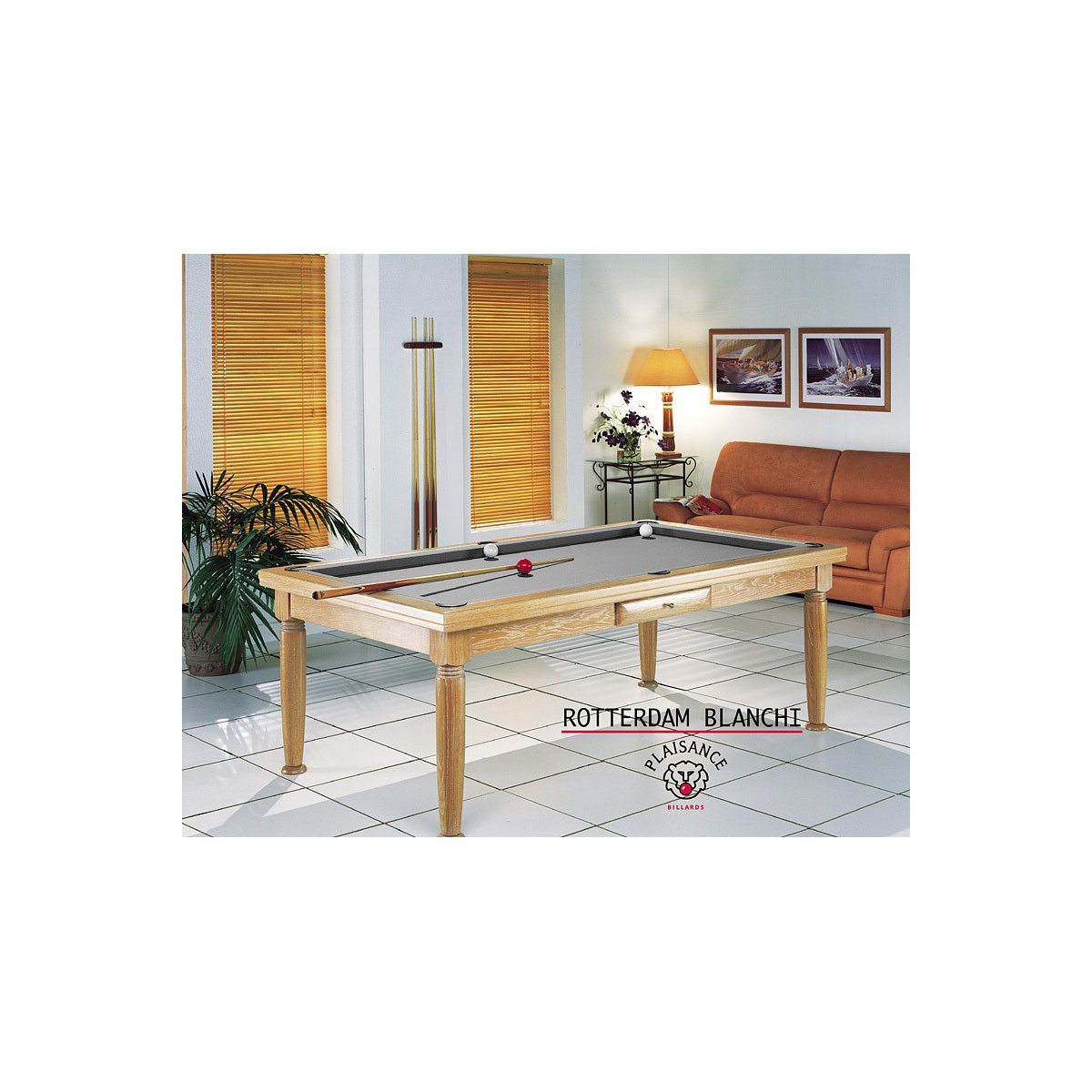 Billard table a manger rotterdam blanchi - Table billard convertible table a manger ...