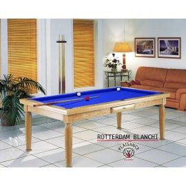 Billard table de salon + tapis billard bleu royal de luxe