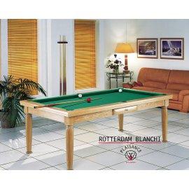 Billard modulable : table de jeu et table à manger avec tapis vert jaune