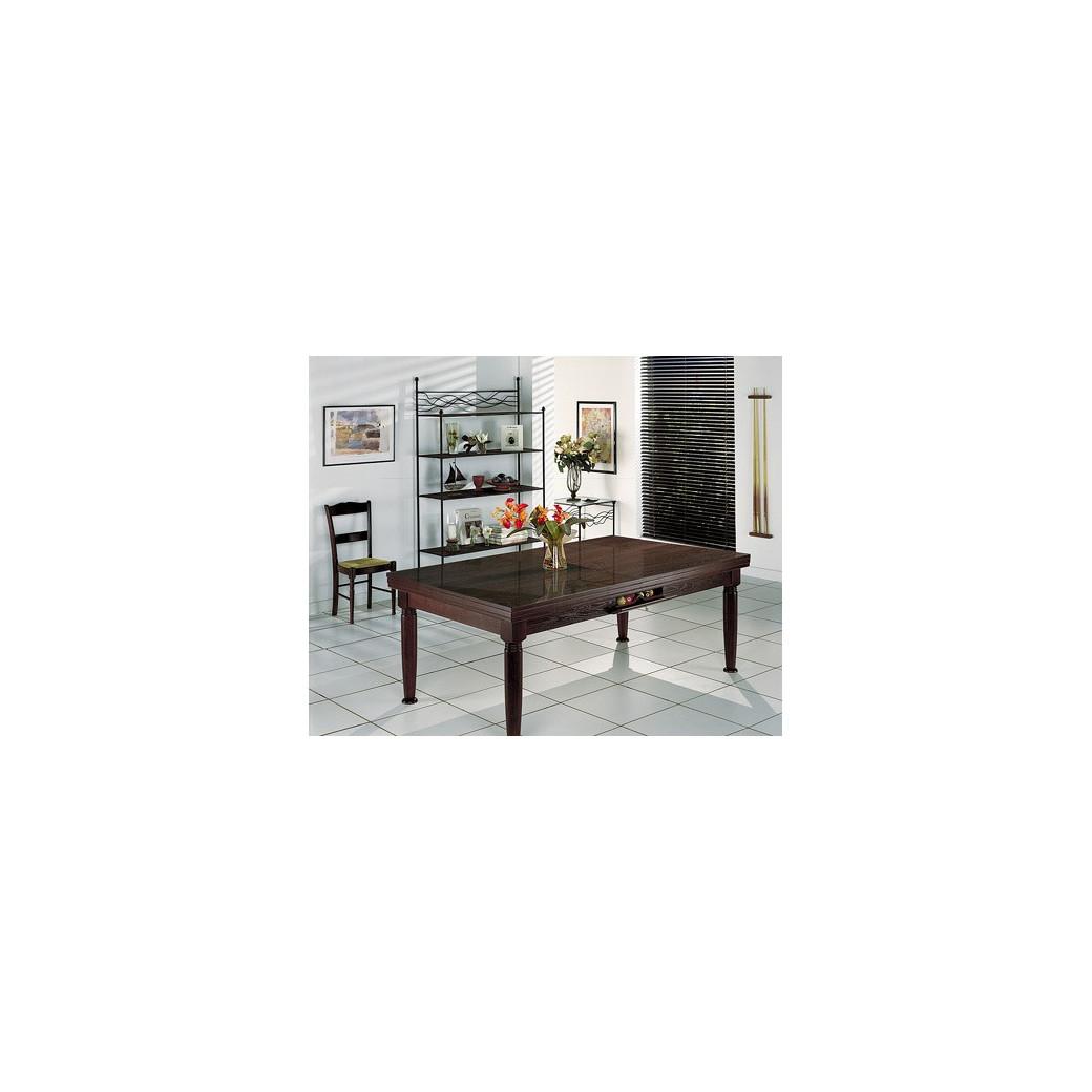 Billard table a manger, plateau billard bois noir wengé n°17
