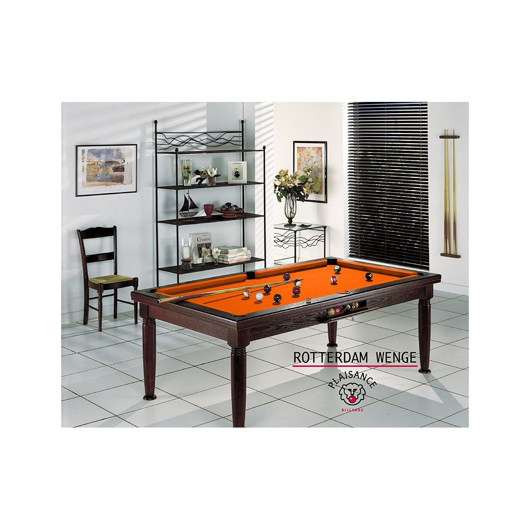 Billard americain transformable table, et son tapis orange