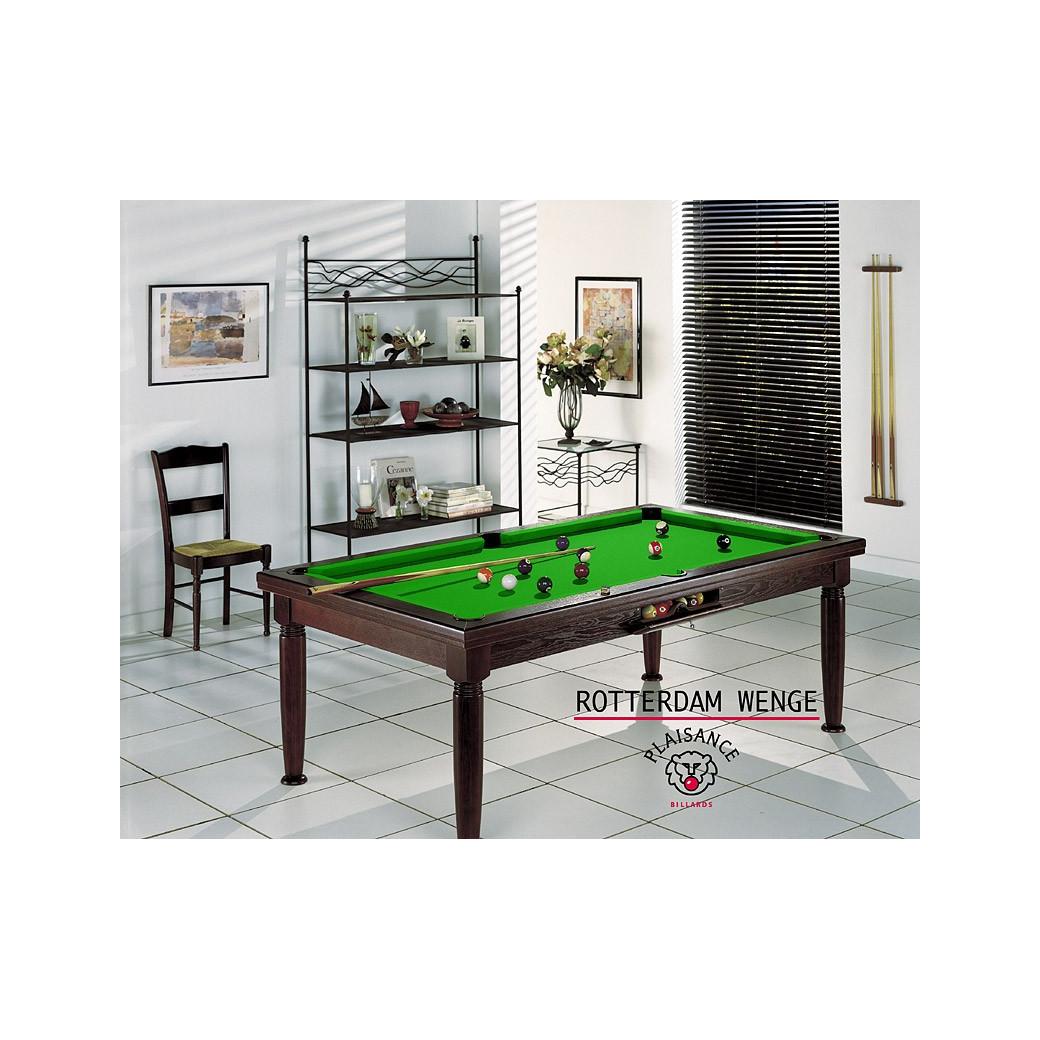 Billard 2 en 1, avec cette table transformable et son tapis de jeu vert pomme