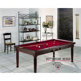 Billard table manger : carambole, us ou pool avec un drap Simonis bordeaux