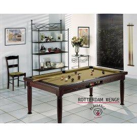 Billard américain, fr et/ou 8 pool en bois noir finition wengé et tapis gold