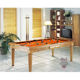Jouer au billard, dans votre salon avec le billard Oslo orange