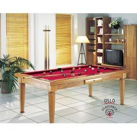 Vente billard americain, avec tapis rouge pour jouer au billard chez soi